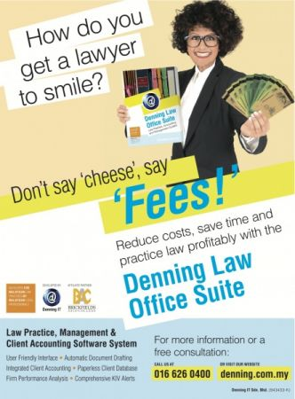 How do you get a lawyer to smile?